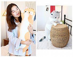 Мягкая игрушка-подушка «Обнимашки от котейки» большая