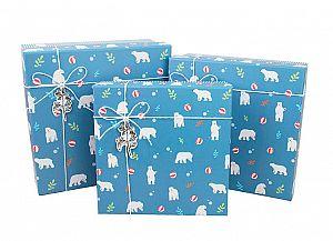 Подарочная коробка «Северный мишка» маленькая