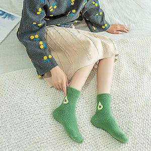 Шерстяные носки «Авокадо»