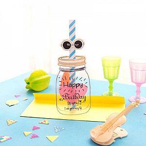 Поздравительная открытка «Happy birthday to you»